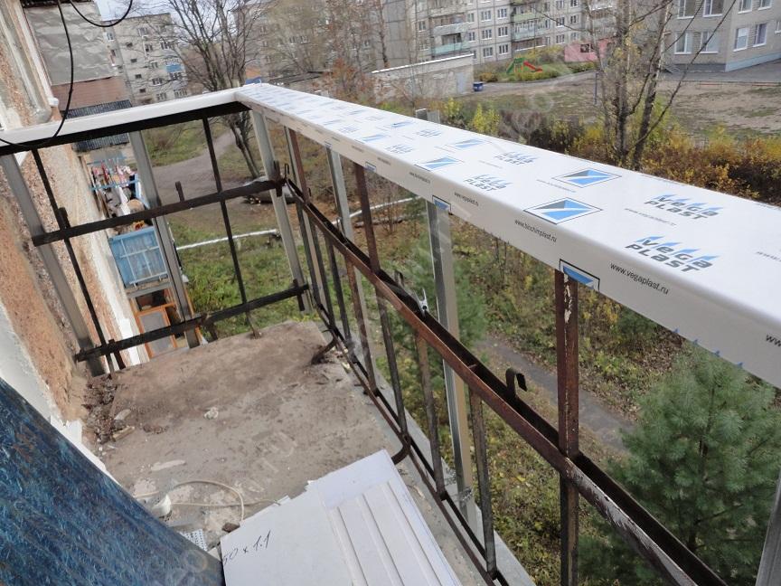 Остекление балкона системой слайдорс. фотоотчет..
